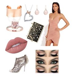 """""""Ink Pink"""" by kibby-b-ann on Polyvore featuring Missguided, Tory Burch, Karl Lagerfeld, Disney and Lime Crime"""