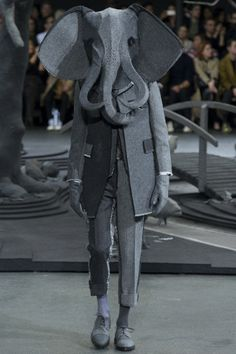 """if you're going to be a monster, be a fashion monster by thom browne - """"tailored elephant"""""""