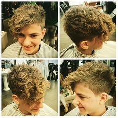 mensworldherenkappers's photo on Instagram Boys Curly Hairstyles, Little Boy Hairstyles, Hairstyles Haircuts, Haircuts For Men, Boys With Curly Hair, Curly Hair Cuts, Short Curly Hair, Curly Hair Styles, Curly Perm