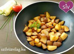 Diétás sült krumpli - Finom és egészséges ételek! Wok, Sweet Potato, Potatoes, Vegetables, Kitchen, Recipes, Cooking, Potato, Food Recipes