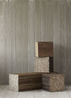 Seating furniture Twig was designed initially to Neal's Yard Remedies headquarters in Dorset.They are however quite expensive, bench costs £ 1425 and the square pallet costs £ 810