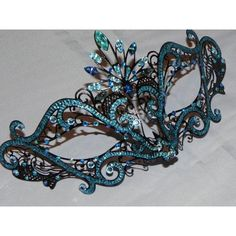 Custom Metallic Masquerade Mask ($60) ❤ liked on Polyvore featuring masks, accessories and masquerade