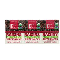 Made in Nature, Organic Dried Raisins, Plump & Rich Supersnacks, 6 Pack, oz g) - iHerb Dried Raisins, Fruit Puns, Vegetable Snacks, 6 Pack, Green Grapes, Organic Fruit, Health And Nutrition, Women's Health, Glass Containers