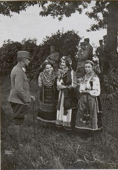 Front visit of Kaiser Karl I, Jul.28 1917