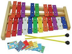 D/'Luca 13 Notes Children Xylophone Glockenspiels with Music Cards
