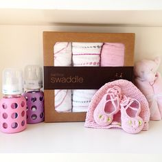 Make sure your baby shower gift is SO cute that they'll bring home baby in YOUR gift for their little princess!  @bornfreeboutique #bornfreeboutique #longbeach #belmontshore #babyshowergift #babygirlgift #bambooswaddle #babybottles #blankie #babyballetslippers #shoplocal #shopsmall