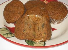 Carrot-Banana Muffins (Or Bundt Cake) from Food.com:   								This recipe is a cross between banana cake and carrot cake!  It is a healthier version of a cake recipe from an old Bon Appétit Magazine (Oct. 1993).  I replaced the oil with applesauce and it is still exceptionally moist and delicious. You could substitute some oil for the applesauce if you prefer.  If making the cake, use a greased and floured 12-cup Bundt pan and bake for about 1 hour.  Recipes makes 20 cupcakes.