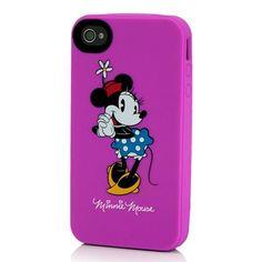 carcasa minnie mouse rosa iphone 4s silicona