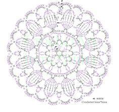 ダルマレース糸#60color No. 2(アイボリー)・5(オレンジ)・8(グリーン)8号レース針 約7㎝ダルマレース糸「葵」color No. 32号レース針 約10㎝Memo作り目はわから編む方法細編みを6目編みます。前段の鎖編みに編むところは束で拾って編みます。編み図は、縁編みで糸の色を替えるように糸を切る印を付けていませんが、各段で糸の色を替える場合は、1周を最後まで編み、一旦糸を切って、次の段から新しい糸をつけます。(最後の