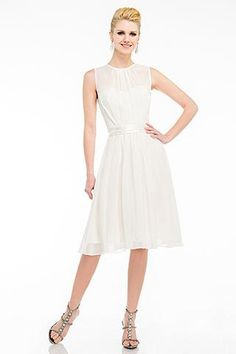 Knee Length A-Line Cocktail Dress has Illusion Sweetheart Neckline