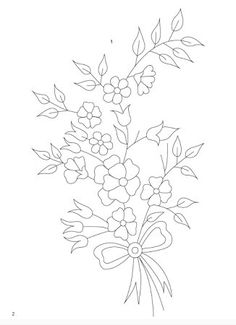 Cute Embroidery Patterns, Embroidery Art, Embroidery Designs, Adult Coloring Pages, Coloring Books, Fabric Paint Designs, Flower Doodles, Flower Template, Needlework