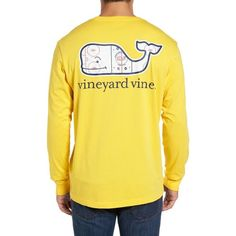 Men's Vineyard Vines Rink Whale T-Shirt (64 CAD) ❤ liked on Polyvore featuring men's fashion, men's clothing, men's shirts, men's t-shirts, cruiser yellow, mens t shirts and mens yellow shirt