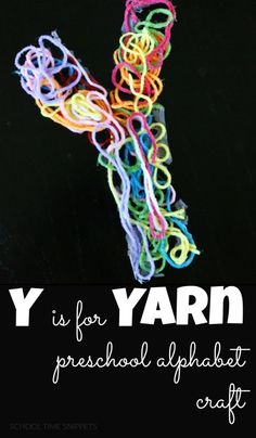 School Time Snippets: Y is for Yarn Preschool Alphabet Craft. Pinned by SOS Inc. Resources. Follow all our boards at pinterest.com/sostherapy/ for therapy resources.