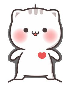LINE Stickers Cutie Cat-Chan Jimao,Cutie Cat-Chan coming with her boyfriend back this time!,Stickers,Animated Stickers,Example with GIF Animation Cute Love Pictures, Cute Love Gif, Cute Love Memes, Cute Anime Cat, Cute Cat Gif, Cute Bear Drawings, Cute Kawaii Drawings, Cute Cartoon Pictures, Cute Love Cartoons
