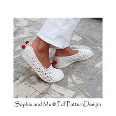 Ravelry: White Lace Slippers /Espadrilles pattern by Sophie and Me-Ingunn Santini