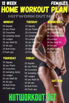 12 week workout plan for females
