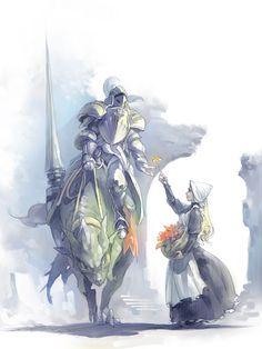 騎士と花売り