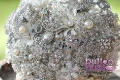 Such an #amazing #broochbouquet! #sparkles are #stunning!   #alternativebouquet #stunning #buttons #sparkles #alternative #wedding #bride #instaweddings #handmade #love #weddingparty #celebration  #bridesmaids #happiness #unforgettable #forever #ceremony #romance #marriage #weddingday #broochbouquets #fashion #flowers #australia  www.nicsbuttonbuds.com.au www.facebook.com/nicsbuttonbuds www.pinterest.com/nicsbuttonbuds www.instagram.com/nicsbuttonbuds www.twitter.com/nicsbuttonbuds