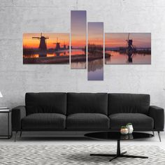 Shop for Designart 'Dutch Windmills Panorama' Abstract Canvas Wall Art. Get free delivery On EVERYTHING* Overstock - Your Online Art Gallery Store! Abstract Canvas Wall Art, Canvas Art Prints, Thing 1, Windmills, Online Art Gallery, Dutch, Design Art, Poster Prints, Gallery Wall