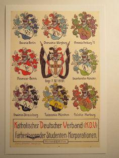 KDV Katholischer Deutscher Verband Erwinia Strassburg Palatia Marburg | eBay