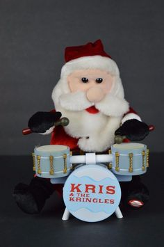 #Gemmy #Kris&TheKringles #Animated #Santa #Drummer #Mice #SEE #VIDEO #RARE #Gemmy#Christmas#KrisKringle