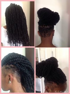 Side shave with marley twist only from smartbraids.