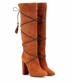 Moonshine 105 knee-high boots | Poppy Delevigne x Aquazzura