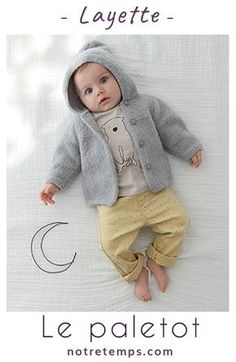 A crisp pattern to wrap toddlers of softness . Baby Boy Vest, Baby Coat, Beanie Knitting Patterns Free, Baby Knitting, Crochet Patterns, Knit Baby Sweaters, Hoodie Pattern, Knit In The Round, Couture