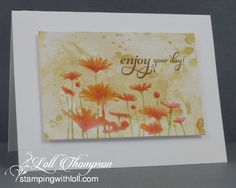 Stamping with Loll: Watercolour Splash Daisies