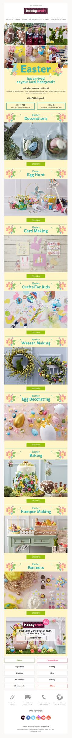 Easter product recommendations email from paperchase easter email from hobbycraft negle Gallery