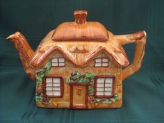 Antique English Hanlay Cottage Tea Pot from problem1 on Ruby Lane