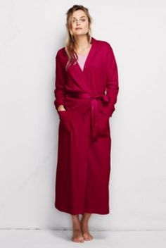 Women's Long Sleeve Cotton Sleep-T Robe from Lands' End - for G's mom.