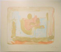 Reflections I. 1995. Lithograph - Helen Frankenthaler - WikiArt.org
