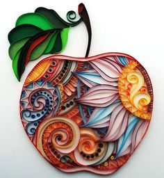 Items similar to quadro quilling on Etsy Arte Quilling, Paper Quilling Flowers, Paper Quilling Patterns, Origami And Quilling, Quilled Paper Art, Quilling Paper Craft, Diy Paper, Paper Crafts, Quilling Ideas