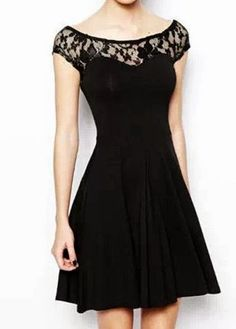 Love the illusion neckline and cut of this dress