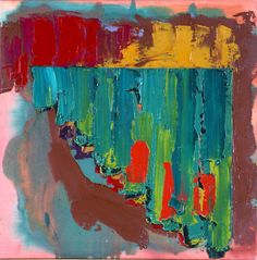 John Hoyland: Downland, 1978 (acrylic on canvas, 76 x cm). The Courtauld Gallery. Abstract Painters, Abstract Art, Painter Artist, Drawing Projects, Art Uk, Whimsical Art, Your Paintings, Abstract Expressionism, Painting Inspiration