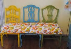bench with chairs diy