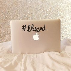 Hashtag Blessed  #Blessed  Vinyl Decal  Laptop Decal Macbook Decal Laptop Stickers by moonandstarco on Etsy