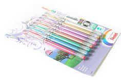 Pentel Slicci Metallic Gel Ink Pen - 0.8 mm - 8 Color Set