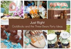 Just Right – Goldilocks and the Three Bears Party Ideas  #goldilocks #threebears #justright #party #decorations #partyideas