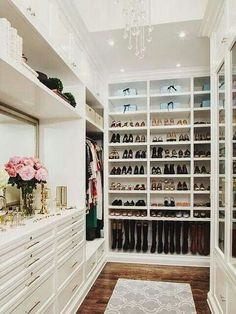 Great ideas for a re do on my walk in love the shoe storage and the hanging space with the drawers underneath... Could put my scarves and beanies etc in there?