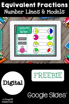 Teaching equivalent Fractions activities on a number line does not have to be boring! Use this 3rd grade Google Classroom freebie to engage your students in this tricky math concept. 3rd Grade Activities, Teaching 6th Grade, Algebra Activities, Fraction Activities, Time Activities, Math Games, 3rd Grade Fractions, Equivalent Fractions, 3rd Grade Math