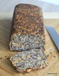 MN: Bread without flour, just seeds. Slovak Recipes, Czech Recipes, Raw Food Recipes, Low Carb Recipes, Sweet Recipes, Snack Recipes, Cooking Recipes, Savoury Baking, Bread Baking