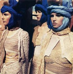 photographed by Inez Van Lamsweerde and Vinoodl Matadin and styled by Carine Roiteeld, Emmanuelle Alt and Camilla Nickerson. This was taken in the Moroccan desert using models Daria Werbowy, Freja Beha Erichsen, Lara Stone and Dree Hemmingway ... for Vogue Paris Feb 2010.