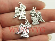 WYSIWYG 6pcs 24*17mm antique silver praying angel charms-in Charms from Jewelry & Accessories on Aliexpress.com | Alibaba Group