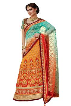 Buy Now Orange Crepe Heavy Zari Embroidery Work Wedding Saree With Heavy Work Blouse only at Lalgulal.com  Price :- 7,642/- inr. To Order :- http://bit.ly/1TKQ0Zx COD & Free Shipping Available only in India #sarees #weddingsaree #saris #weddingwear #bridalwear #halfandhalf #allthingsbridal #bridalsuits #ethnicfashion #celebrity #shopping #fashion #bollywood #india #indiafashion #bollywooddesigns #onlineshopping #designersaree #partywear #collection #designechoice #wedding #designer…