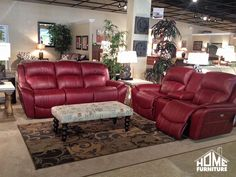 La-Z-Boy u0027Barrettu0027 Leather Power Reclining Sofa u0026 Loveseat + Console . Currently on the showroom floor! : lazy boy double recliner sofa - islam-shia.org