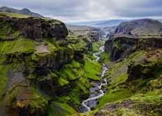 Iceland landscape - canyon and river Nikon Small World, Viking Age, Montage, Beautiful Images, Vikings, Things To Come, In This Moment, Mountains, Wall Art