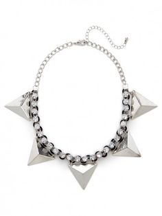 Silver Equilateral Collar $32