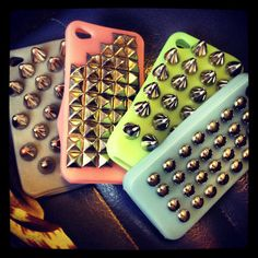 Studded iPhone cases